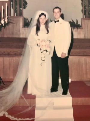 Sandy and Dean Powell, Canton, are pictured on their wedding day almost 50 years ago, June 19, 1971.