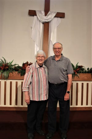 Pictured are Sandy and Dean Powell. The couple will celebrate 50 years of marriage June 19. Happy anniversary!