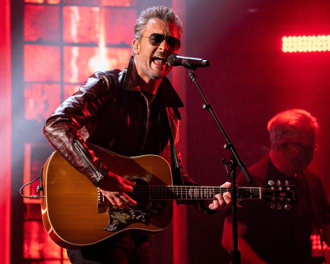 Eric Church – seen here performing during a taping for the 56th ACM Awards at the Ryman Auditorium in Nashville, Tenn., April 16, 2021 – co-headlines Country Thunder Florida.
