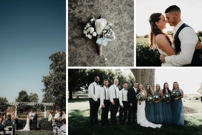Jillian and Matthew Shoaf at their Sept. 5, 2020, wedding
