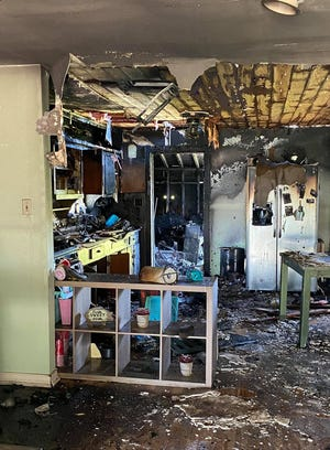 Banquete family loves home in fire.