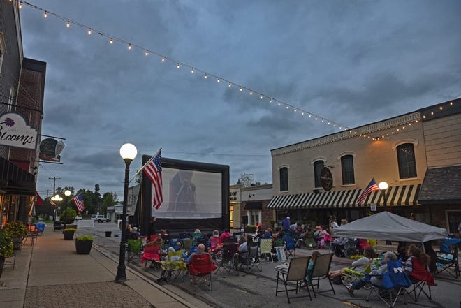 """Movies on Lane featured """"A Dog's Way Home"""" June 20, 2019, in downtown Blissfield. The summer movie series resumes Thursday, June 17, in downtown Blissfield."""