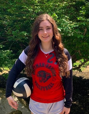 Sophia Berardinelli of Whitman-Hanson has been selected to The Enterprise Volleyball All-Scholastic team.