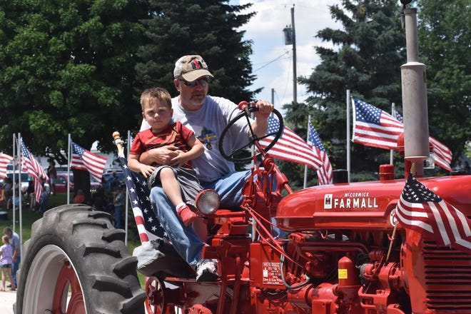 The Andover 185th + 1 anniversary celebration on Saturday, June 5, included a grand parade. Among the entries was the late Cliff White's 1951 McCormick Farmall Super C, presented in his memory by Dave and Kim White.