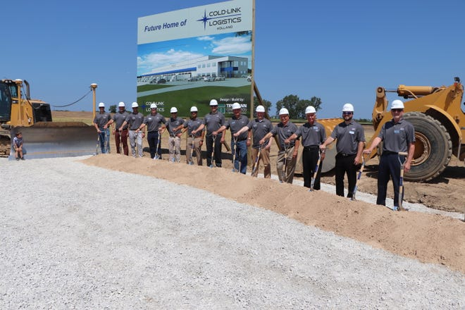 Cold-Link Logistics broke ground on a 147,000-square-foot cold storage facility in Holland on Friday, June 11.