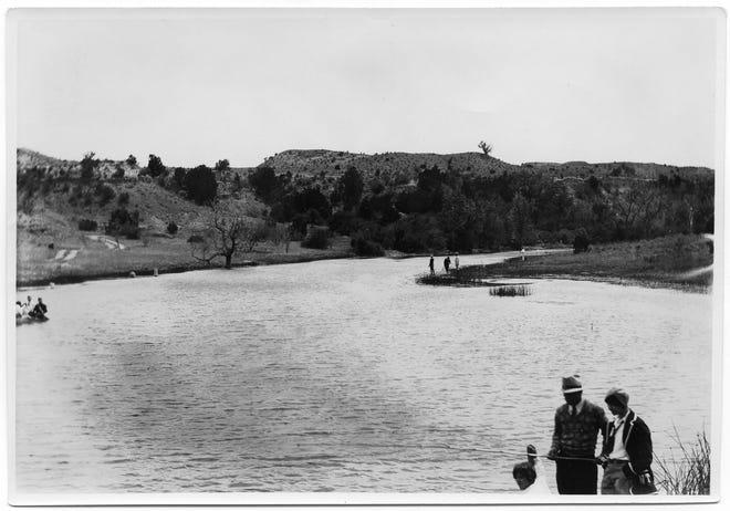 Individuals enjoy fishing at Buffalo lake Wildlife Refuge.