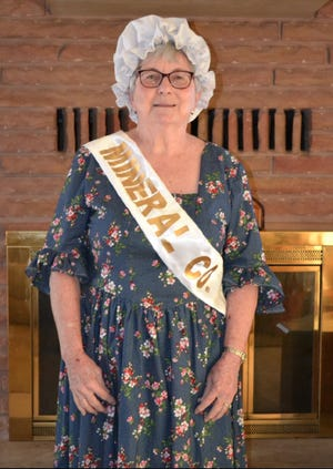 Jean Bradshaw will represent Mineral County as a County Belle in the West Virginia Folk Festival this weekend.