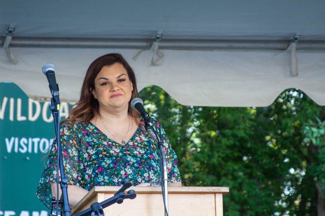 """Abby Johnson, pro-life advocate and author of the book """"Unplanned"""", told her story of working at a Planned Parenthood clinic for eight years before leaving to speak on behalf of the unborn and women in crisis pregnancies."""