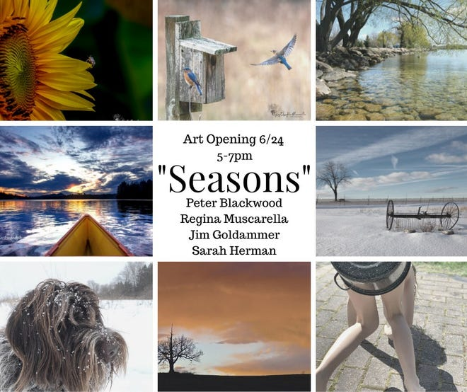 """The Cobblestone Arts Center, 1622 Route 332, Farmington, will feature a new photography show in Cobblestone's Gallery titled """"Seasons"""" featuring photography from four local artists."""