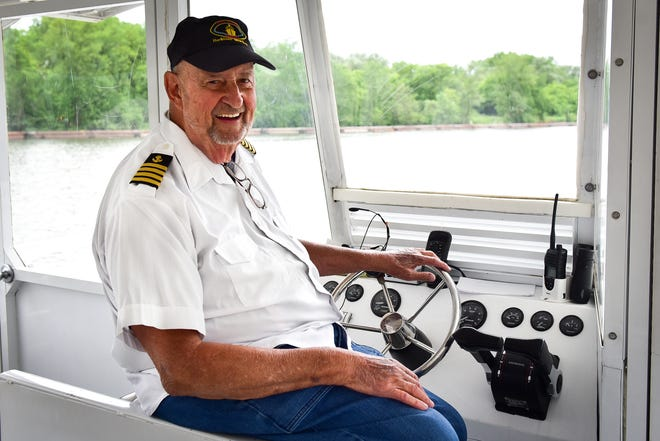 Capt. Jerry Gertz at the helm of the Lil' Diamond II.