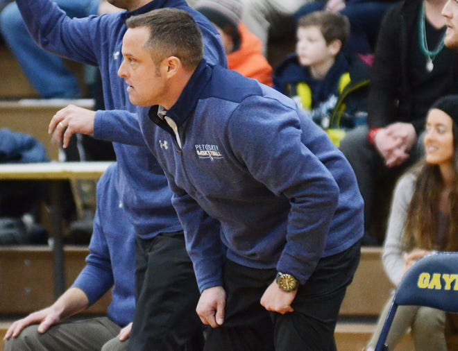 Former Petoskey coach and now head coach of the Harbor Springs boys program, John Flynn has always coached the game from the edge of his seat.