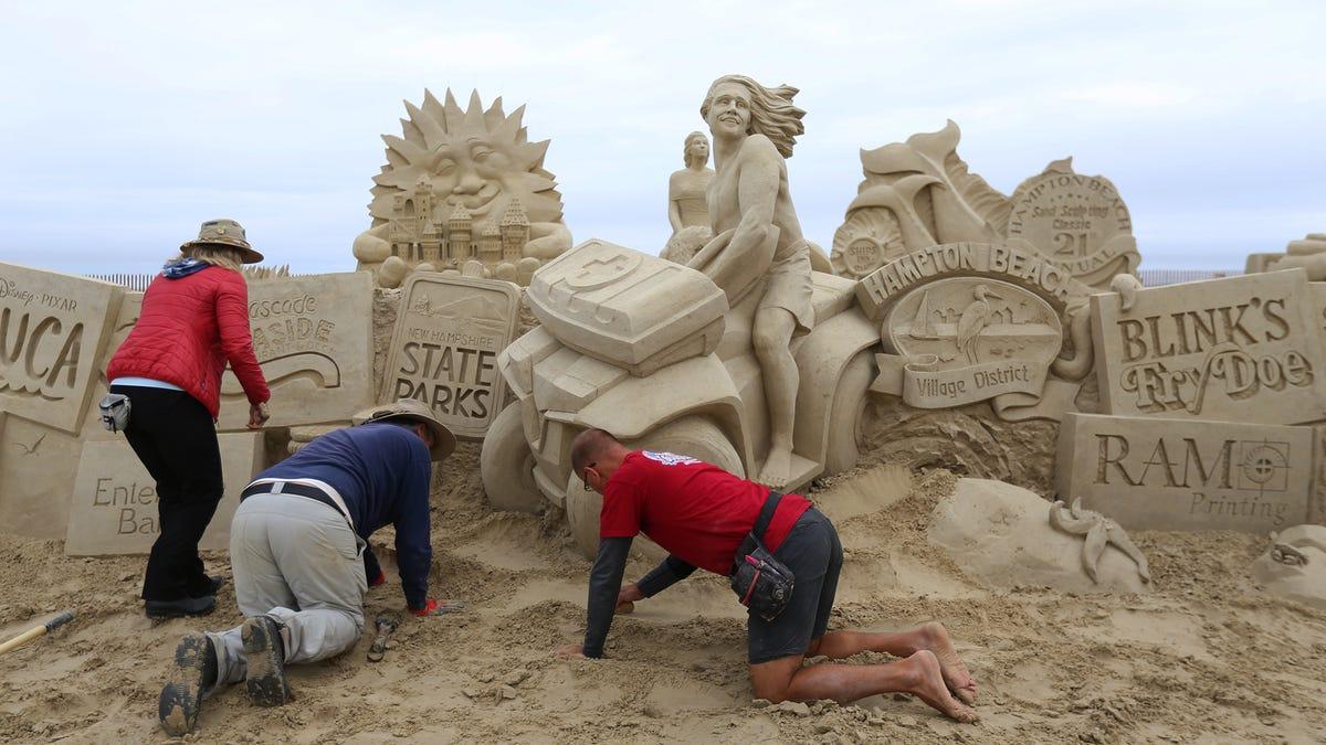 Hampton Beach Sand Sculpting Classic 2021 with world champ John Gowdy