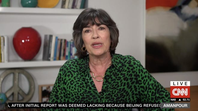 Christiane Amanpour, an internationally known journalist and University of Rhode Island graduate, tells her CNN audience Monday that she has been diagnosed with ovarian cancer.