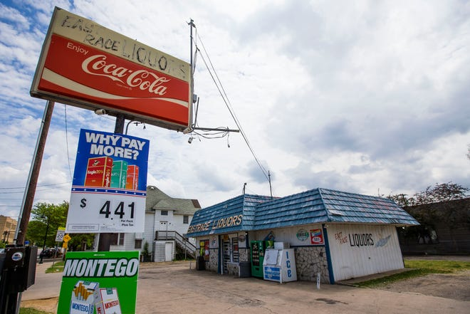 East Race Liquors, at Colfax and Niles avenues in South Bend. Owner John Tiffany had wanted to move its liquor license to a new store at Eddy and Sorin streets but the city's common council Monday night denied his zoning request, saying too many homes surrounded the new site.