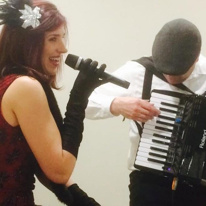 Soprano Anne Fuchs and her father, accordionist Jim Fuchs, perform with piano accompanist Anthony Beers on June 20 at First United Methodist Church of Middlebury as part of the Crystal Valley Concert Series.
