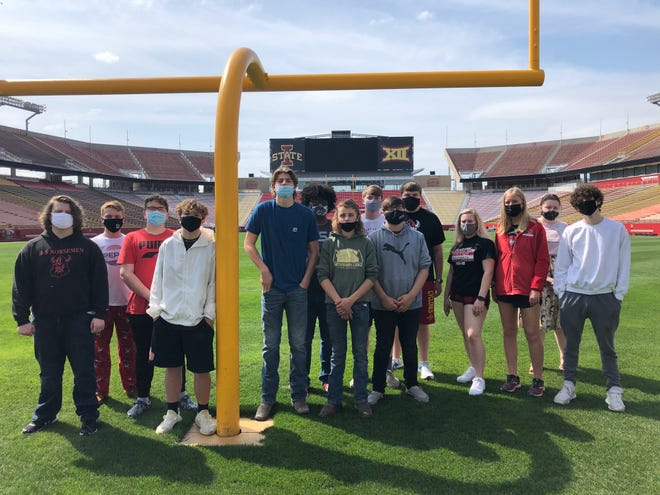 Pictured are the horticulture students who attended the trip to Jack Trice Stadium recently.