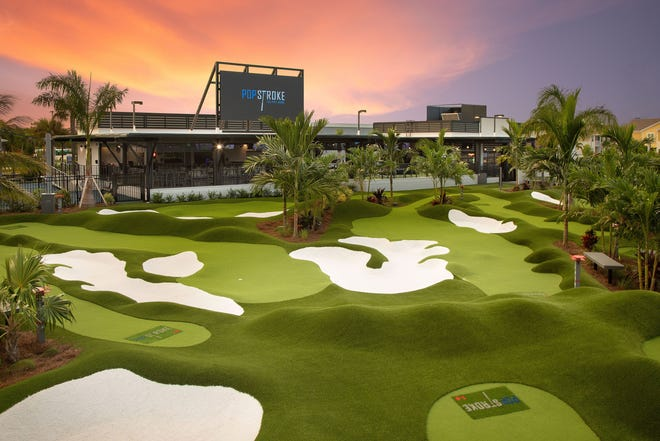 A rendering of PopStroke. The Tiger Woods-created golf and entertainment center is opening in Sarasota by the end of the year.