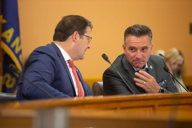 Legislators debate extending the state's COVID-19 emergency declaration during a May 26 statehouse meeting. The declaration formally ended on June 15.