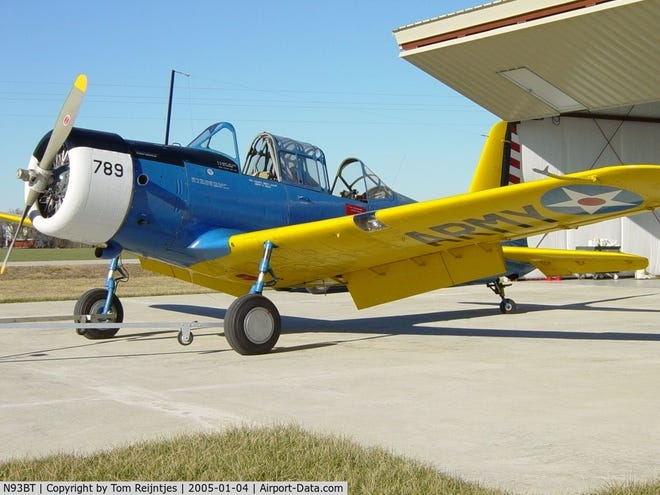 This World War II trainer plane recently inherited by Topeka's Combat Air Museum arrived Tuesday to become part of its collection.