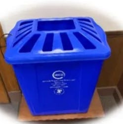 An image of the proposed recycling bins.