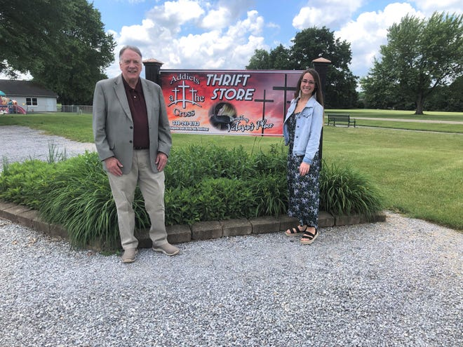 Larry Skrant and Michayla Sweeney operate the Cross Thrift Store in Bolivar.
