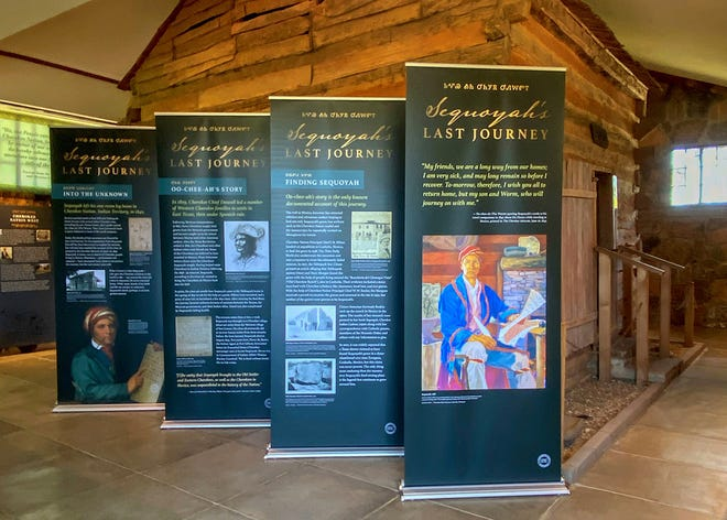 """""""Sequoyah's Last Journey"""" is a new exhibit at Sequoyah's Cabin Museum, detailing what many historians believe was Sequoyah's final effort to locate and unite Cherokees in Mexico."""