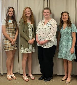 Emily Piekenbrock (left), Pailyn Groene, Caroline Mason and Anna Woods are the 2021 winners of the Violet Township Women's League annual scholarship. The VTWL will hold a Raffle Basket Scholarship Fundraiser on June 27 to raise funds for the 2022 scholarship program.