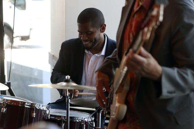 Reggie Jackson of the Bobby Floyd Trio performs for diners June 12 at Hen Quarter in Dublin's Bridge Park.
