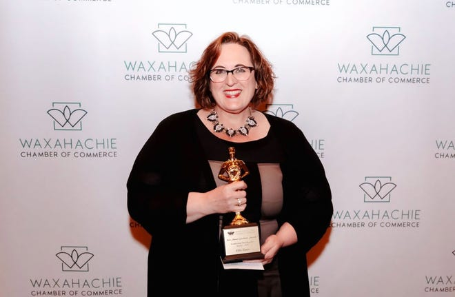 Southwestern Assemblies of God University Business Professor Ellie Gates recently won the Leadership Waxahachie Award at the 93rd Annual Waxahachie Chamber of Commerce's Awards banquet. The award recognizes business leaders for business excellence in the community.