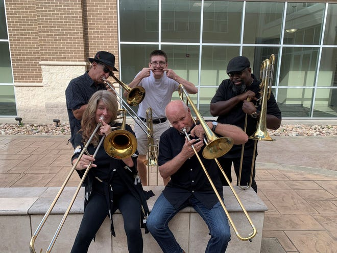 The trombone quintet Tyrone's Bones is among more than a score of local musical acts highlighted by the Waxahachie Convention and Visitor's Bureau to promote the city's status as a Music Friendly Community.