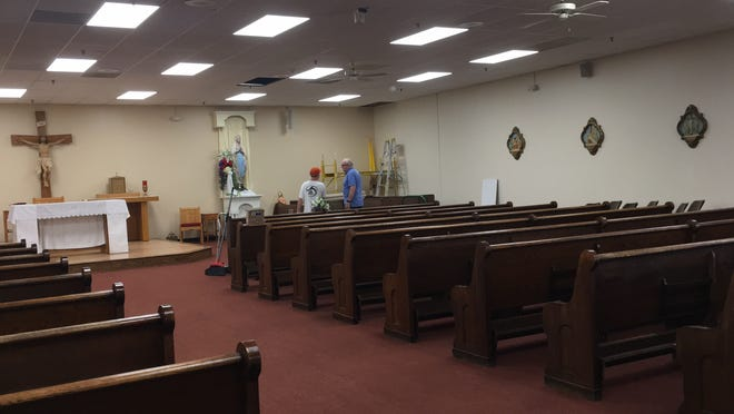 Volunteers have contributed greatly to the renovations at Our Lady of Lourdes in Carver.