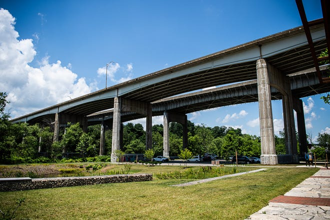 Capt. Jeff Bowen Bridge, crossing a public parking lot located on Riverside Drive. Brian Keith Wilson Jr. was shot and killed under the bridge on June 13.