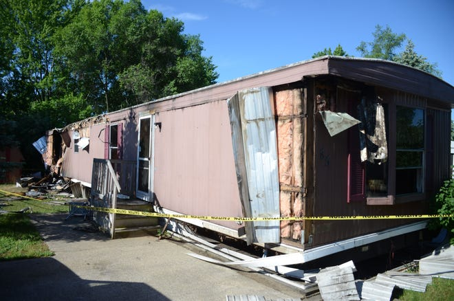 The mobile home of Robert Martinez was destroyed by fire on Sunday.