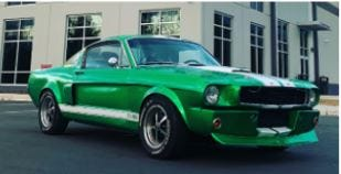 A luxury sports car was stolen in Corryville on Sunday.  The 1966 Ford Mustang Fastback was taken in the 2500 block of Burnet Ave., according to police.