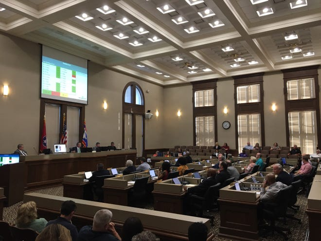 The Montgomery County Commission meets on the third floor of the historic courthouse.