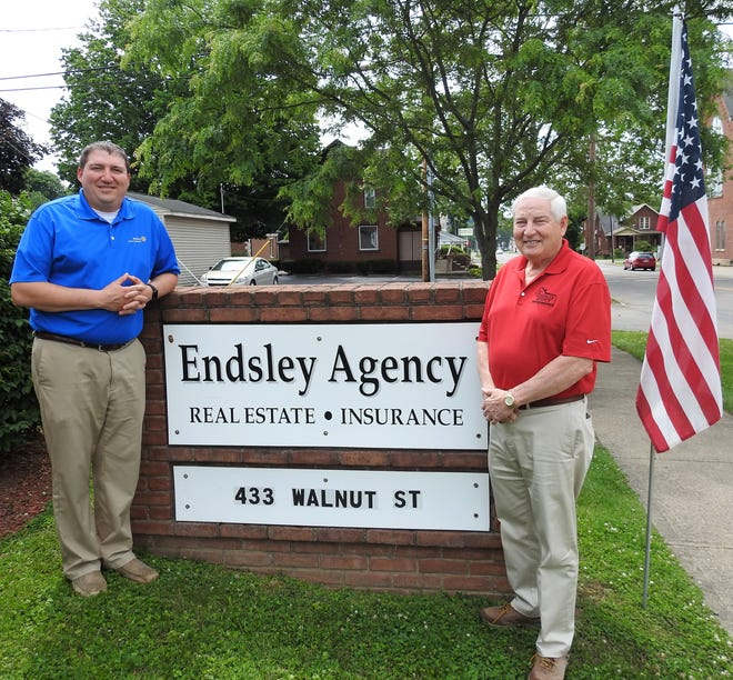 Son and father Todd and Larry Endsley run Endsley Insurance Agency and also farm together. Todd said he's learned a lot of lessons from his dad and his late grandfather, Lister Endsley, who started the firm and farm with his father-in-law, Everett Foster.