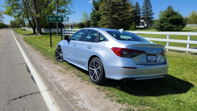 Gone to Hell: The 2022 Honda Civic is fun to take to Michigan's best roads around HUG -- the towns of Hell, Unadilla, and Gregory.