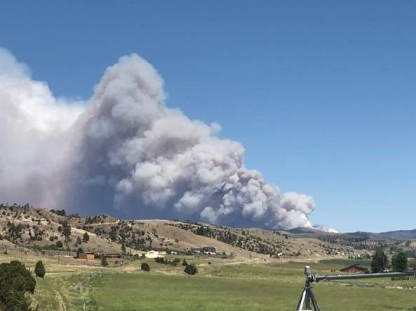 The Deep Creek Fire burning the Big Belt Mountains east of Townsend has now jumped U.S. Highway 12. The Broadwater County Sheriff's Office has issued a pre-evacuation order for the Grassy Mountain sub-division.