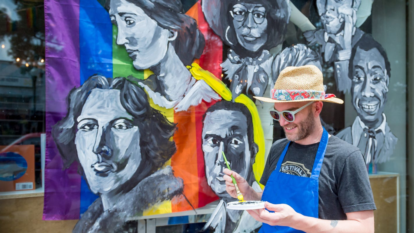 'This is to educate': Pride mural in downtown Lafayette created by local artist