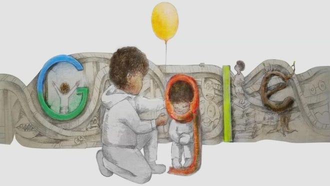"Kentucky teenager Milo Golding's winning Google Doodle: ""Finding Hope."""