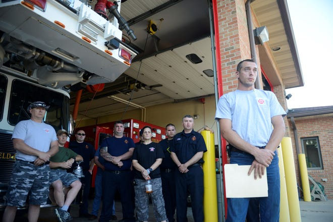 Springfield Township firefighters were denied an opportunity to speak during Monday's board of trustees meeting.