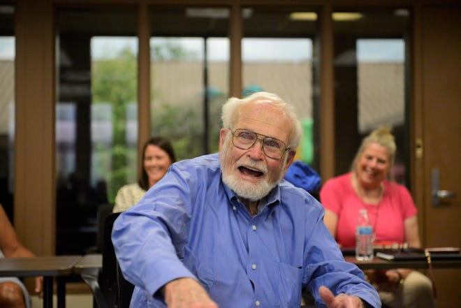 Colleagues, friends and coworkers gathered Tuesday at Catalyst to wish Chan Stevens well in his retirement.