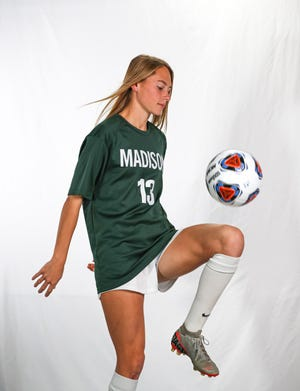 Madison's Taylor Huff was named the 2020-21 Gatorade Ohio Girls Soccer Player of the Year, one of the highest honors in high school sports.