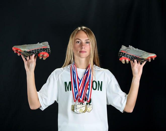 Madison's Taylor Huff is the 2020-21 Mansfield News Journal Female Scholar-Athlete Award winner.