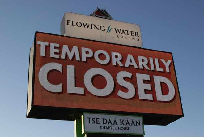 Flowing Water Casino in Hogback is one of two casinos under the Navajo Nation Gaming Enterprise that remain closed.