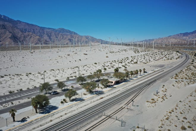 Part of the Amtrak rail in Southern California.