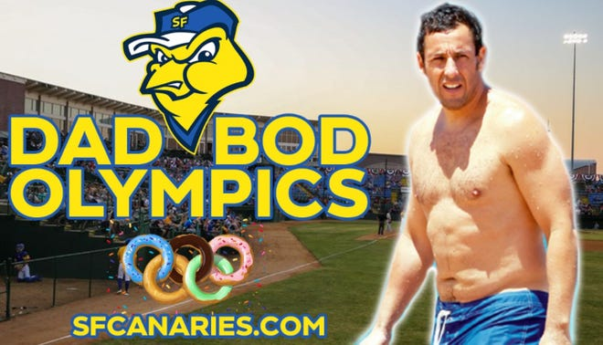 The first-ever Dad Bod Olympics will be held Thursday, June 17th, 2021 at the Sioux Falls Canaries home game at 1001 Northwest Ave.
