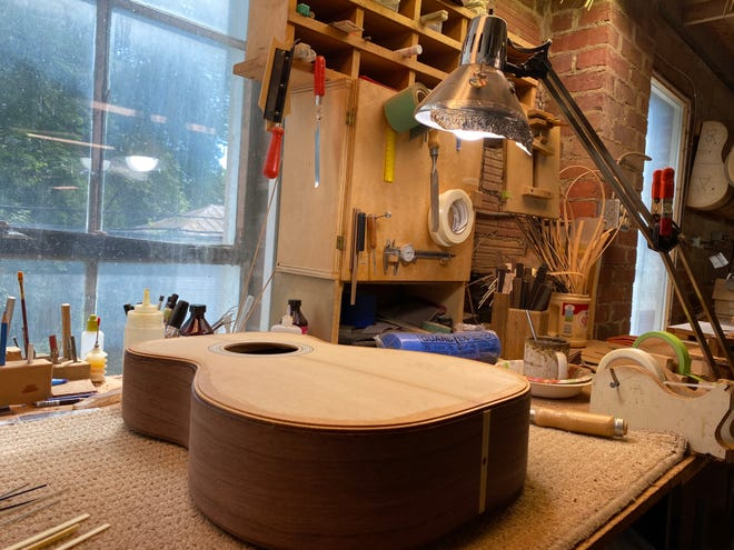 Inside Huss and Dalton Guitar Company, which produces handcrafted guitars in Staunton.