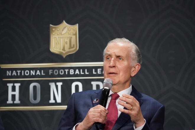 Former NFL commissioner Paul Tagliabue will be inducted into the Pro Football Hall of Fame in August.