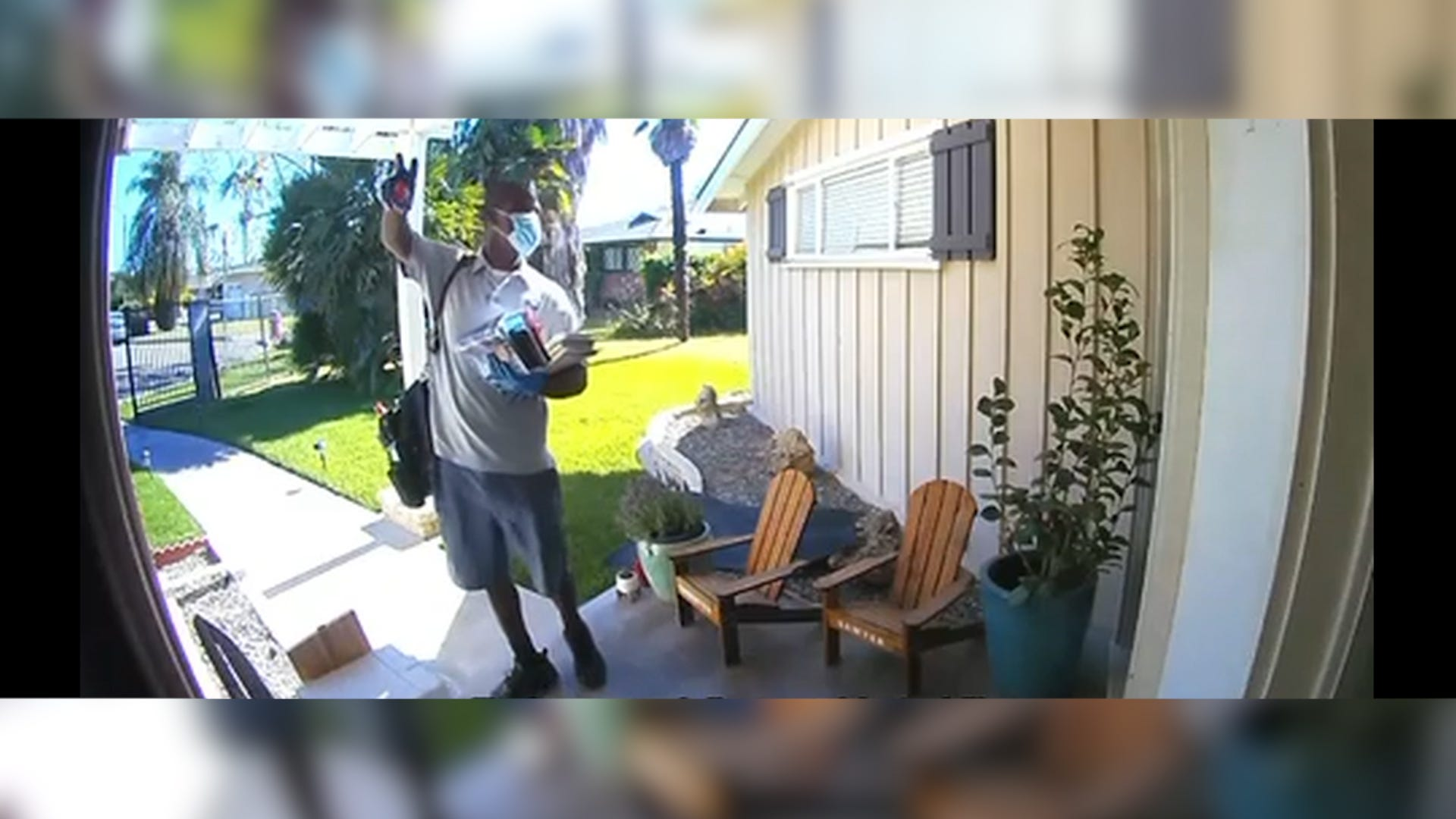 Mailman delivers dance moves to his favorite house